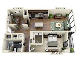 Floor Plans For Apartments 3 Bedroom by Floor Apartment Plans And Pricing For Capitol View On 14th