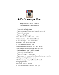 made this selfie scavenger hunt for my daughters 13th birthday