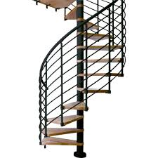 arke civik 63 in grey spiral staircase kit k03034 the home depot
