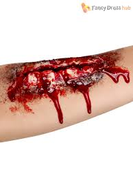 halloween fake scar wounds blood gore make up kit zombie fancy