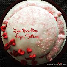 velvet birthday cake for lover with name