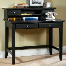 black modern desk furniture writing desk with brown wall design and black wooden