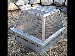 Fire Pit Grill Insert by Fire Pit Spark Screen With Lift Off Top U0026 Grill Insert Youtube