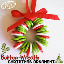 diy button wreath christmas ornament u2013 top easy craft party decor