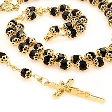 gold rosary black gold rosary uu i01l 0btt religious jewelry lifetime