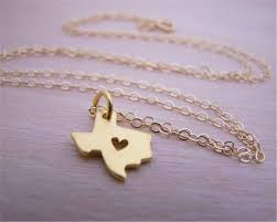 Texas Map Outline Online Get Cheap Texas Heart Necklace Aliexpress Com Alibaba Group