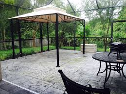 Patio Gazebo 10 X 10 by Contemporary Patio With Exterior Tile Floors U0026 Gazebo In Tampa Fl
