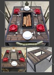 Patio Table With Built In Fire Pit - best 25 metal fire pit ideas on pinterest steel fire pit