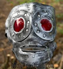 hand shaped leather gimp mask zipper mouth halloween horror
