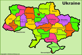 Map Of Ukraine And Crimea Administrative Divisions Map Of Ukraine