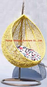 furniture yellow hanging swing papasan chair for outdoor