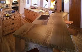 Rustic Kitchen Countertops by Kitchen Countertops U0026 Bars Robertstoneinc Com