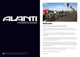 avanti bikes owners manual by avantiplus cycles issuu
