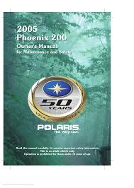 polaris offroad vehicle phoenix phoenix 200 pdf owner u0027s manual