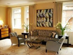 Art Deco Living Room by Living Room Bright Yellow Wall Color Nice Artistic Painting Nice