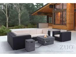 Zuo Outdoor Furniture by Zuo Outdoor Cartagena Aluminum Wicker Corner Chair In Espresso
