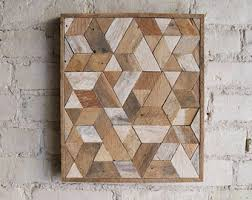 New Bedroom Wall Reclaimed Mosaic Wood Tiles Modern by Wood Wall Art Etsy