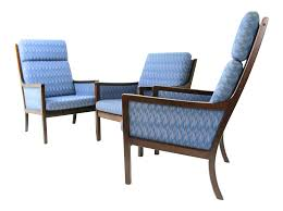 danish modern lounge chairs by ole wanscher for p jeppesen set