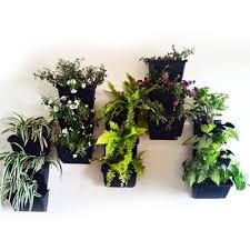 buy 7 inch vertical garden pots with bracket green pack of