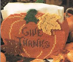 thanksgiving napkin holder plastic canvas pattern by 4evermickey