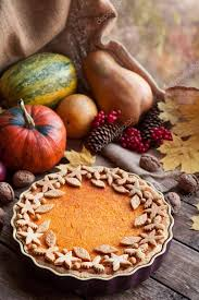 seasonal pumpkin tart pie with decoration on top