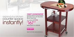 folding island kitchen cart the shopping channel today s showstopper is oasis concepts