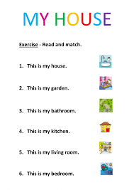 rooms in the house interactive worksheets