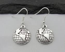earrings world travel earrings gift for women dainty earrings world map