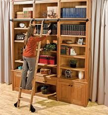 furniture home bookcase with ladder and rail surprising picture