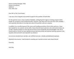 cover letter example for bank teller writing cover letter for