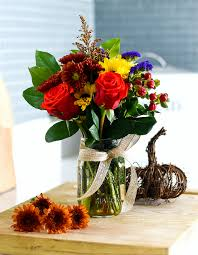jar flowers fall flower arrangement in jar jar crafts