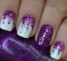 60 glitter nail art designs matte white nails purple glitter