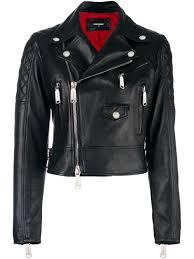 biker jacket women dsquared latest clothing dsquared2 ribbed detail biker jacket