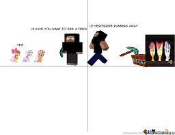 Minecraft Herobrine Memes - minecraft fallen kingdom herobrine kills cmc by lamzer22999 meme