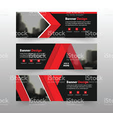 layout banner template red corporate business banner template horizontal advertising
