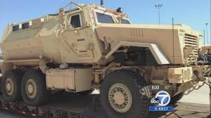 armored military vehicles san bernardino shooting reignites debate over police use of