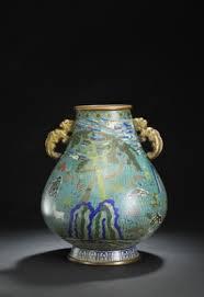 Enamel Vase A Chinese Hu