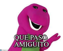 Barney Meme - que paso amiguito barney meme on memegen
