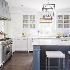 blue kitchen island and white cabinets 15 blue kitchen islands their paint colors chrissy