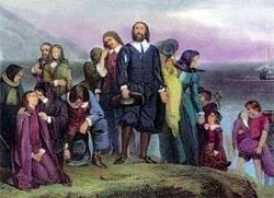 the pilgrims as a symbol of thanksgiving celebrating holidays