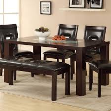 6 Piece Dining Room Sets by Homelegance Lee 6 Piece Dining Room Set W Crackle Glass Insert In