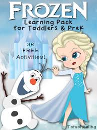 free frozen learning pack for toddlers u0026 prek totschooling