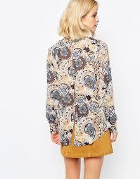 paisley blouse glamorous glamorous high neck paisley blouse