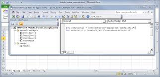 building comsol multiphysics models with excel and visual basic