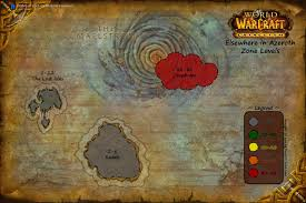 Wow Map World Of Warcraft Horde Progression Through The New Azeroth Arqade