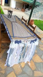 denim table runner ready to ship boho home decor tablecloth
