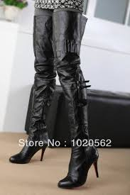 knee high motorcycle boots 2014 new arrival thigh high boots red sole women motorcycle boots