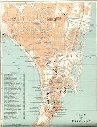 Mumbai Map Historical Maps Of Indian Towns And Cities 1893 1909 1924