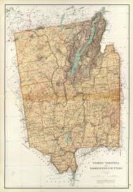 Washington County Map by Prints Of Old Maps Of Saratoga County Ny