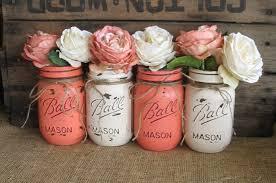 Rustic Wedding Decorations For Sale Sale Set Of 4 Pint Mason Jars Ball Jars Painted Mason